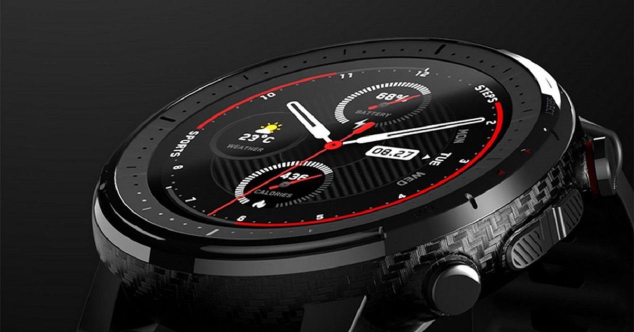 Smartwatch Amazfit Stratos parte delante