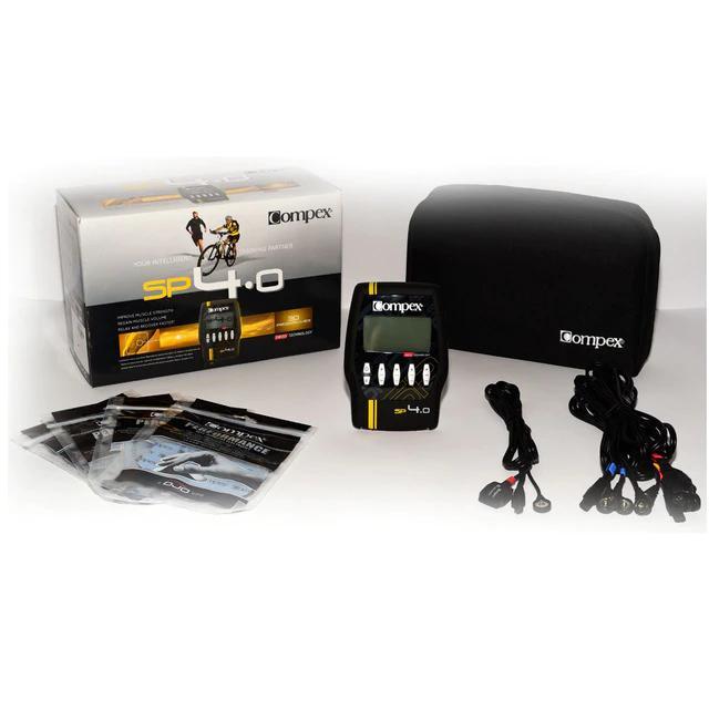 Presentamos caja del Compex SP 4.0 con sus accesorios.